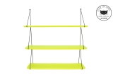 Babou shelves fluo yellow by Rose in April