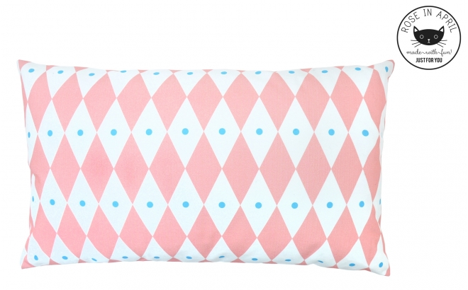pink diamond pillows for kids room by Rose in April