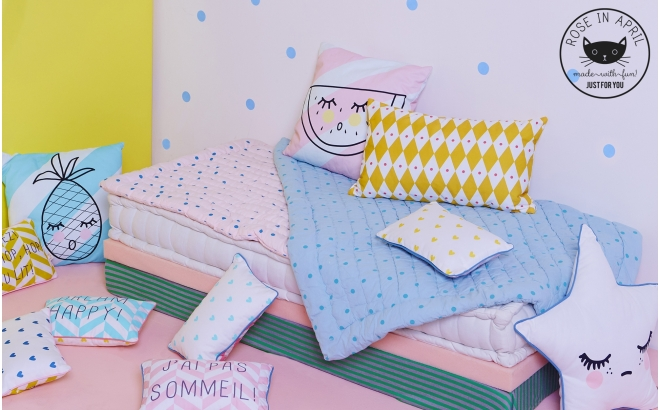 diamond cushions for kids room by Rose in April