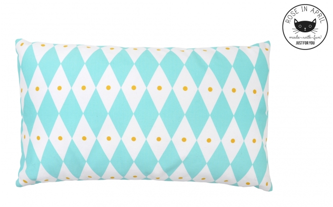 blue diamond pillows for kids room by Rose in April
