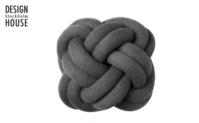 coussin knot gris par Design House Stockholm