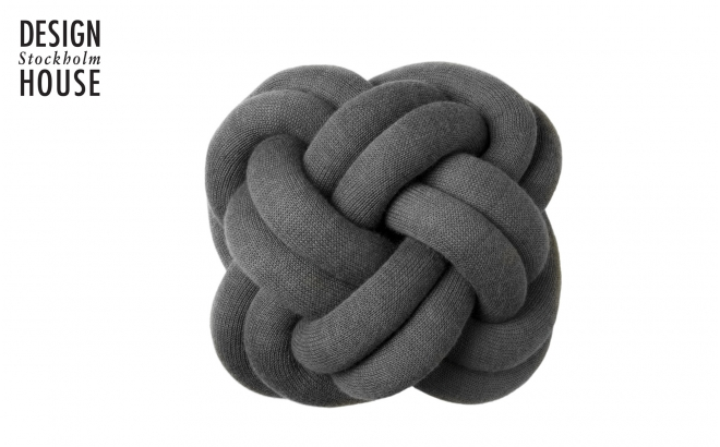 KNOT CUSHION Grey by Design House Stockholm
