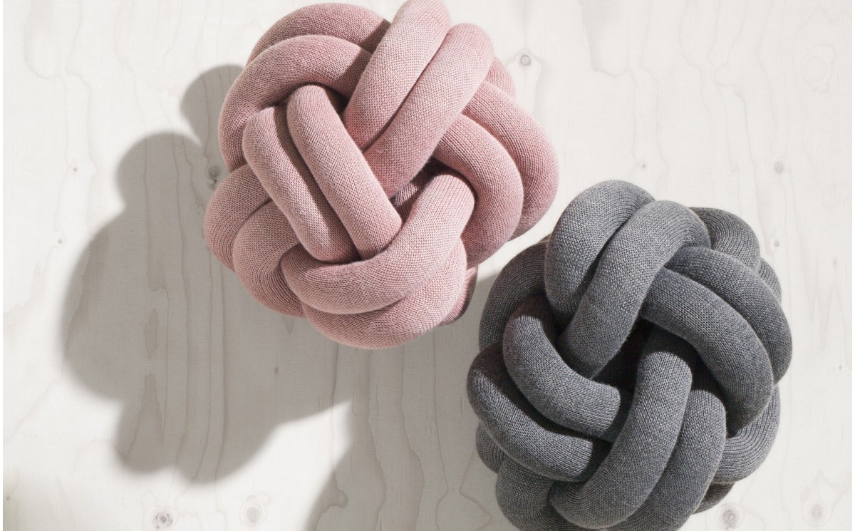 Knot Cushion Grey Pillows By Design House Stockholm