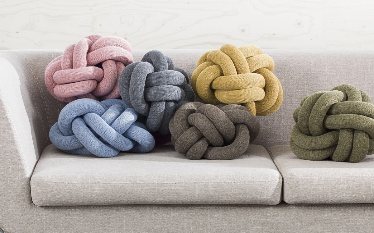 coussin knot (gris)