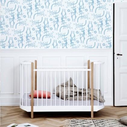 childrens room wallpaper monkeys, baby nursery wall mural, theme safari, savannah, jungle