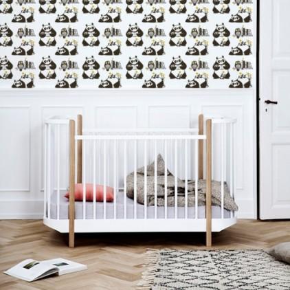 papier-peints bébé panda, décoration murale bébés, theme ours panda