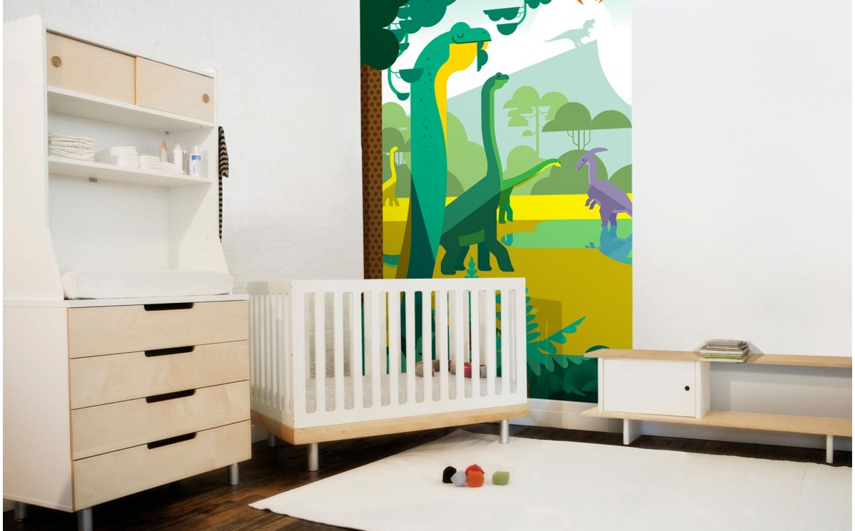Dinosaur kids wallpapers t rex toddler boy room wall mural for Childrens wall mural wallpaper