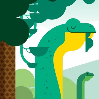 papier-peint enfants dinosaures pour chambre garçon