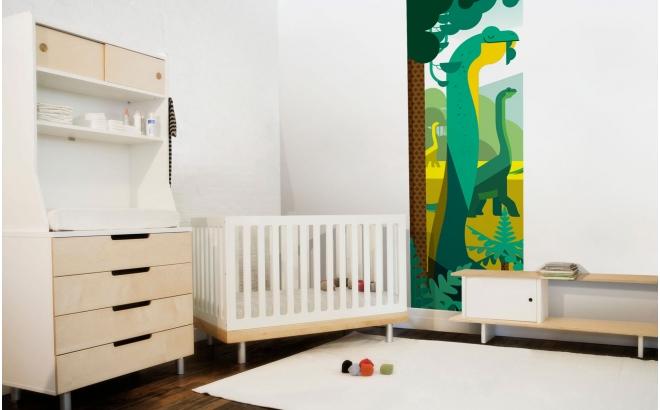mural infantil dinosaurios para habitaciones infantiles niños, mundo jurásico