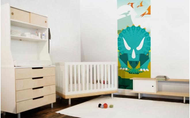 papier-peint enfants dinosaures pour chambre garçon, monde jurassique