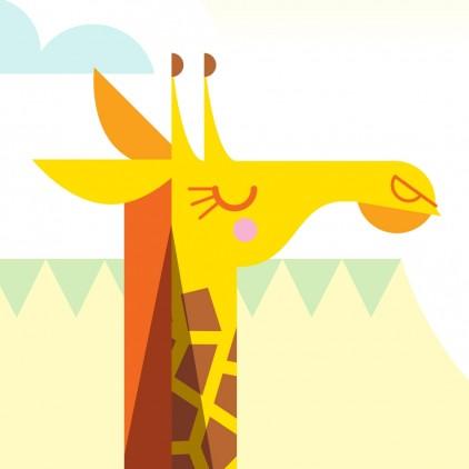 Fresque Murale Papier-Peint Enfants sur Mesure girafe