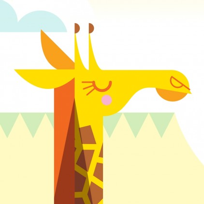 giraffe Custom Kids Wall Murals Wallpaper
