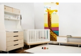 Fresque Murale Papier-Peint Enfants Savane Jungle Safari girafe