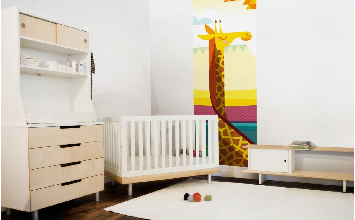 papiers peints enfants savane safari d coration murale girafe. Black Bedroom Furniture Sets. Home Design Ideas