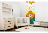Fresque Murale Papier-Peint Enfants Savane Jungle Safari lion
