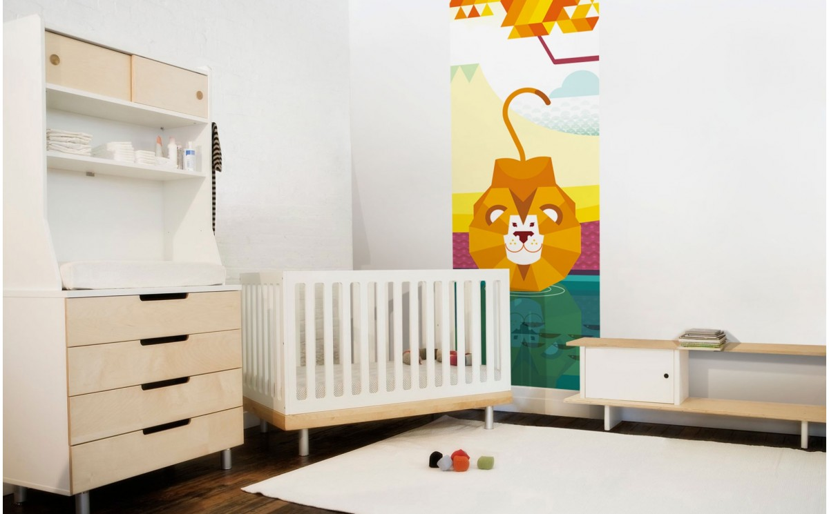 papier peint enfant jungle savane d co murale lion chambre enfant. Black Bedroom Furniture Sets. Home Design Ideas