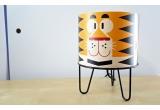 lámpara de mesa infantil Minilum Tigre, madera y metal