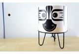 lámpara de mesa infantil Minilum Cebra, madera y metal negro