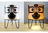 lamp for kids room Minilum Zebra, wood and black metal