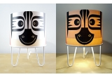 lamp for baby room Minilum Zebra, wood and white metal