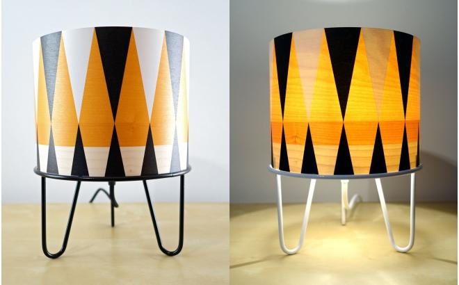 lámpara infantil Minilum Tigre motivo geometrico Tigre negro
