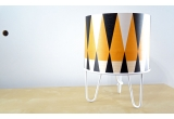 lamp for kids Minilum Tiger geometric pattern and white metal base