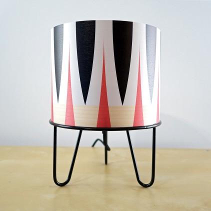 lampe enfant Minilum motifs géométriques Zebre noir