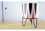 lampe enfant Minilum motif géométrique Zèbre Noir