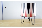 kids lamp Minilum black Zebra geometric pattern