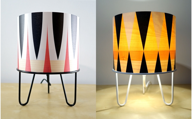kids lamp Minilum with wooden lampshade