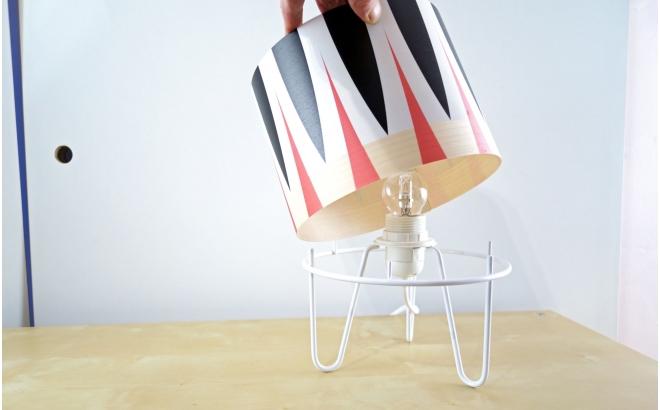 lámpara infantil Minilum motivo geometrico Africano