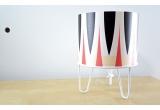 lampe enfant Minilum motif géométrique Zebre blanc