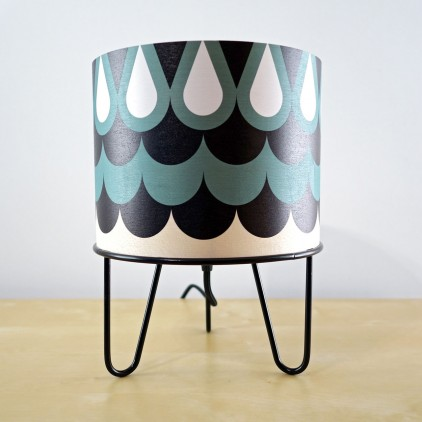 lampe enfant Minilum motifs géométriques Hibou noir