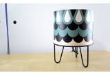 kids lamp Minilum black Owl geometric pattern