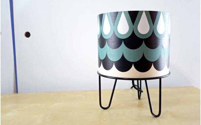 lampe enfant Minilum motif géométrique Hibou Noir