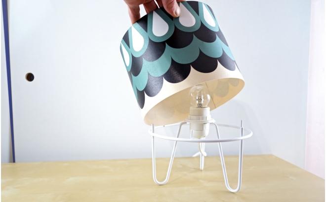 lampe enfant Minilum motif géométrique Fille