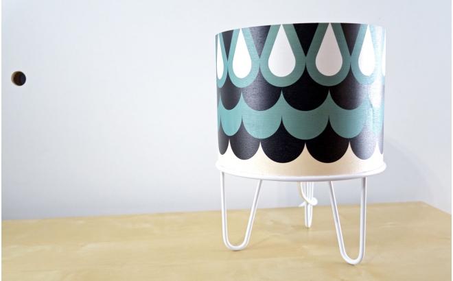 lampe enfant Minilum motif géométrique Hibou blanc