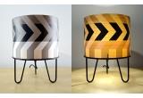 lampe enfant Minilum motif géométrique Raton Laveur noir