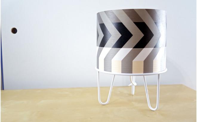 lampe enfant Minilum motif géométrique Raton Laveur blanc