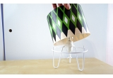 kids lamp Minilum with green geometric pattern