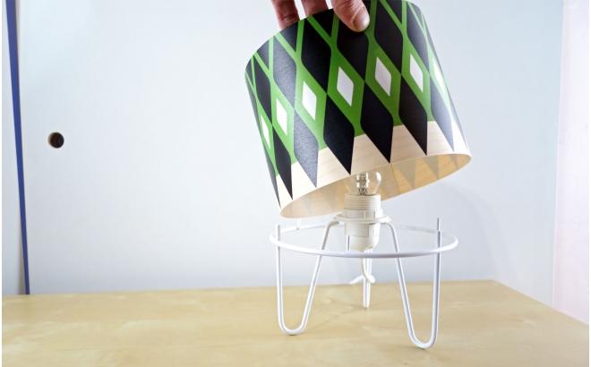 lampe enfant Minilum motif géométrique vert
