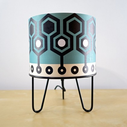 lampe enfant Minilum motifs géométriques Robot noir