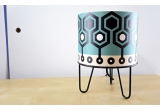 kids lamp Minilum black Robot geometric pattern