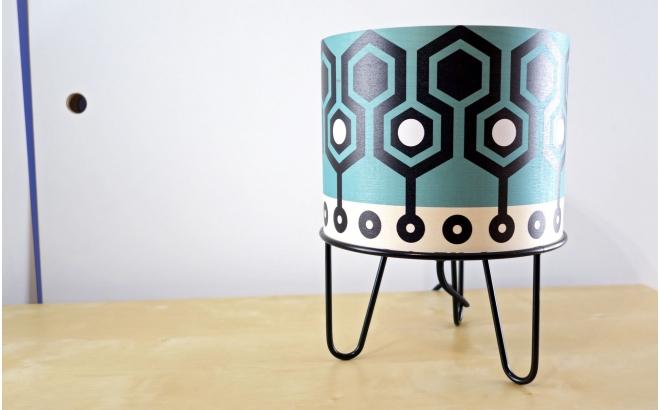 lampe enfant Minilum motif géométrique Robot Noir