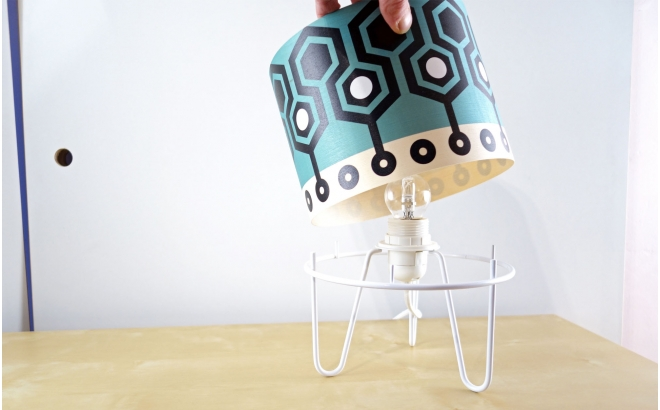 kids lamp Minilum with Robot geometric pattern