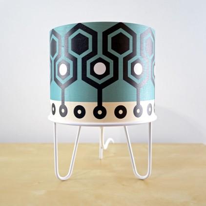 lampe enfant Minilum motifs géométriques Robot blanc