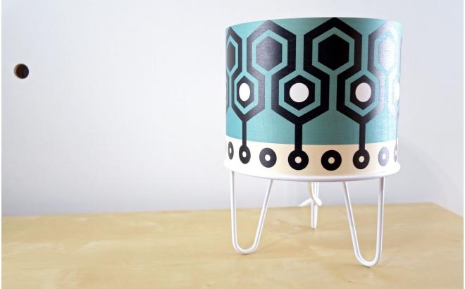 lampe enfant Minilum motif géométrique Robot Blanc