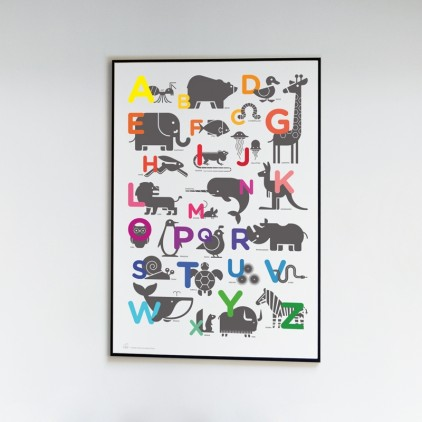 Pósters Carteles Láminas Arte Infantiles ABC Alfabeto