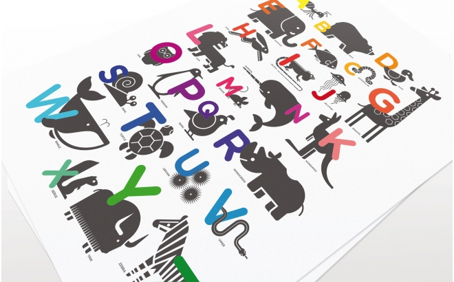 ABC Alphabet Childrens Posters Art Prints