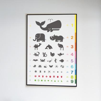 Pósters Carteles Láminas Arte Infantiles animales